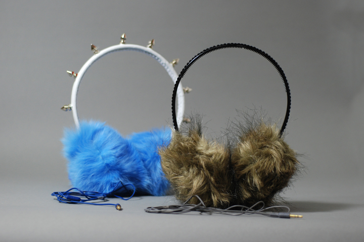DIY Faux Fur Ear Muff Headphones Tutorial