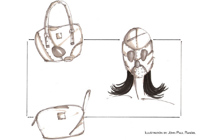This is Luxe - Gasmask Purse