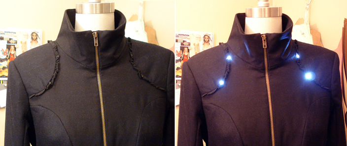 LED Bicycle Coat