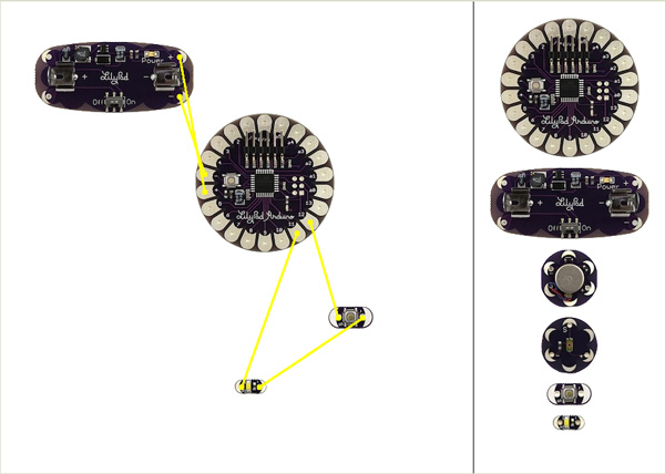 Arduino Lilypad Circuit Layout Tool