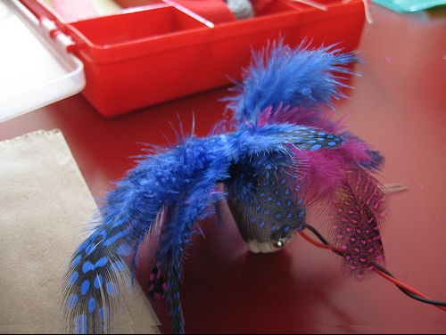 Spinning Feather Hat