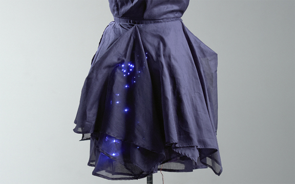 Motion-sensitive LED Dress