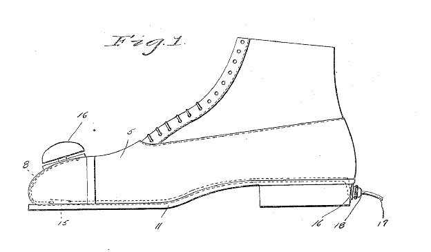 Music Shoe Patent from 1930s