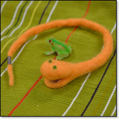 Felted LED Snake